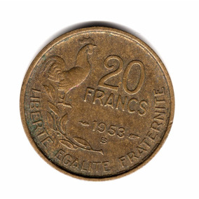 Francia Moneda 20 Francos Año 1953 B Km#917.2