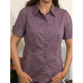 Camisa De Mujer Color Lavanda Fuerte