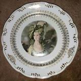 Lindo E Raro Prato Em Porcelana Schmidt