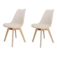 2 Cadeira Saarinen Nude Base Wood