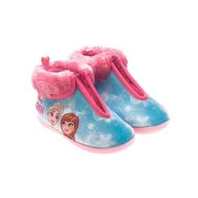 Pantufa Bota Infantil Frozen Azul Ou Rosa Ricsen