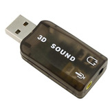 Placa De Som 5.1 Usb 3d Adaptador Audio Virtual Dj Ps3