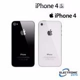 Tampa Traseira Iphone 4 4g / 4s Vidro Apple Orig Envio Já