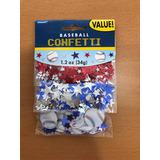Confeti Beisbol Estrellas Importado