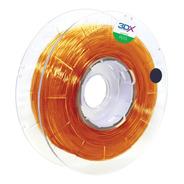 Filamento Petg 1,75 Mm | 500g |  Laranja Translucido Ambar