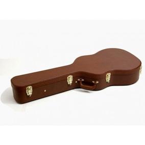 Case Violão Folk Solid Sound Vintage Marrom Estojo Rígido