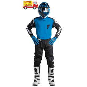 Combo Thor Pantalon, Jersey, Guantes Motocross Enduro Yamaha