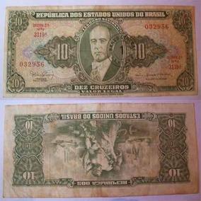 Nota Antiga Dez Cruzeiros