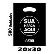 Sacolas Plásticas Personalizadas 20x30 / 500 Un Promoção