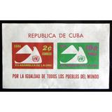 Cuba Palomas, Bloque Sc. 669a Igualdad 1961 Nuevo L9175