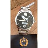 Relógio Aço Cromado Puma
