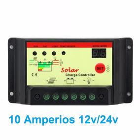 Controlador De Carga Solar 10 Amps 12/24 Volt