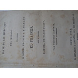 Libro Antiguo Idiomas Francés 1890 Sistema De Ollendorff