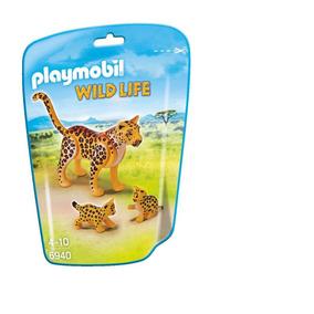 Leopardo Con Crías