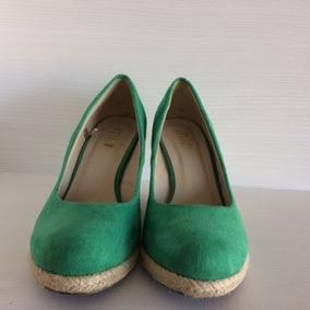 Tacones Zapatos Verano Verdes 37