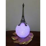 10 Centro De Mesa Torre Eiffel+esfera Led 15 Años Casamiento