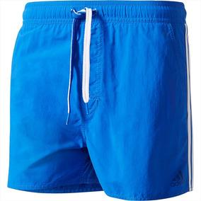 Short De Baño adidas 3 Tiras Hombre Blue - adidas
