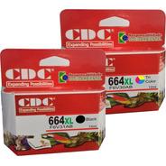 Kit Cartucho De Tinta Cdc 664xl Color + 664xl Preto