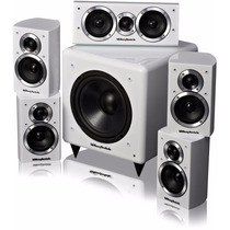Kit Caixas Home Theater 5.1 Wharfedale Dx-1 Branco Laqueado