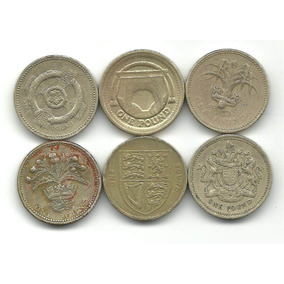 Inglaterra Lote X 6 Diferentes Pound Libra Esterlina