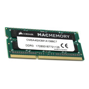 Memoria Ram Sodimm Ddr3 4gb 1066 Corsair Apple Mac iPad