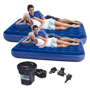 Combo 2 Colchon Inflable 2 Plazas + Inflador Electrico 220v
