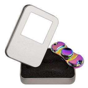 Hand Spinner Rainbow Arcoiris Metalico Acero Juguete