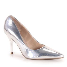 Sapato Scarpin Conforto Feminino Beira Rio - Prata