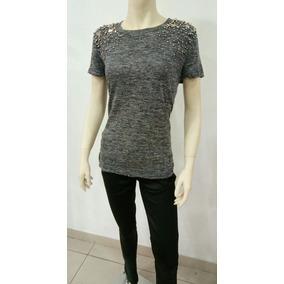 T-shirts Camiseta Feminina Blusinha Pedrarias 2017 Moda