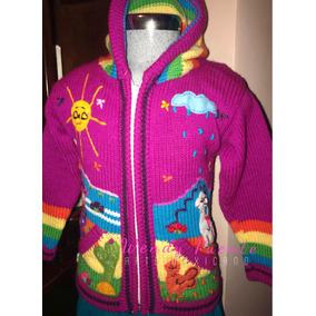 Sweter Artesanal Niña De Perú Talla 4/6