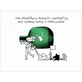 01 Colônia Paz E Humor Masculino (verde) 75ml + Brinde