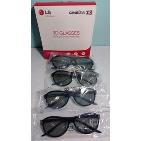 Lentes Lg Cinema 3d Glasses Ag-f310 4 Pares Negro Excelentes