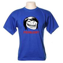 Camiseta Meme Troll Face Girl - Wimza