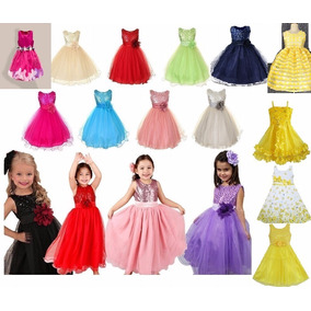 Vestido Festa Infantil Criança Princesa Diversas Cores
