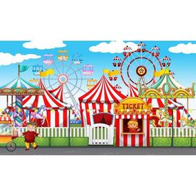 Painel Lona 3,00x1,70mt Festa Entrada Do Parque De Diversões