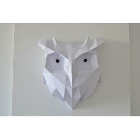 Cabezas De Animales 3d Decorativas Búho Tamaño 50x47x25