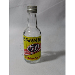 Mini Garrafinha De Vidro 50ml Personalizada (40 Unid)