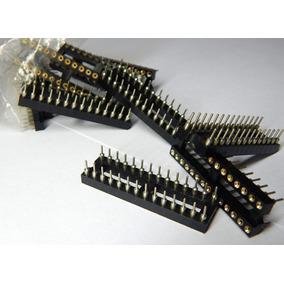 03-soquete P/ Microprocessador Ci Torneado Slim 28 Pinos Pic