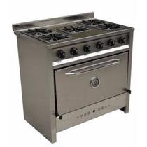Cocina Industrial Gastroequip 5 Hornallas 90 Cm Acero Inox
