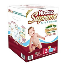 Huggies Supreme Pañales Etapa 3 Niño 120 Piezas