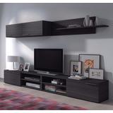 Mueble Modular Moderno Rack Panel Tv Lcd Melamina