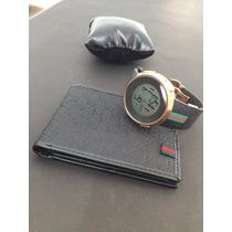 Relógio Digital Gucci Rose E Preto