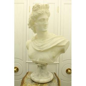 Busto Antiguo De Mármol, Hecho En Italia, Circa Años 40