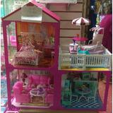 Casa De 2 Pisos Amoblada Set Barbie Delivery Gratis
