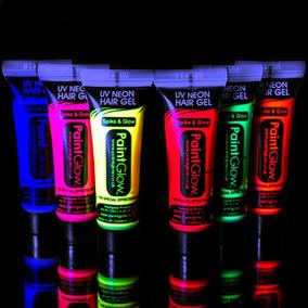 6 Tubos De Pintura Fluorescente Neon Glow Maquillaje Luz