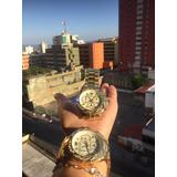 Reloj Technomarine Dorado Acero Excelente Calidad Para Damas