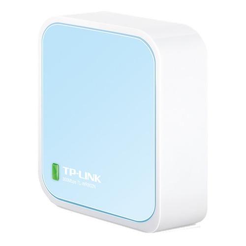 Router TP-Link TL-WR802N blanco/celeste 1 unidad