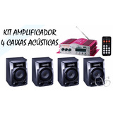 Mini Modulo Amplificador Com 4 Caixas Philips
