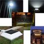 Luminária Solar Telhado, Calha, Cerca, Jardim, Muro 4 Leds