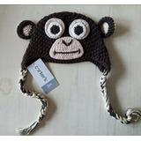 Gorro Tejido Para Bebe Diseño Mono. Hermosos
